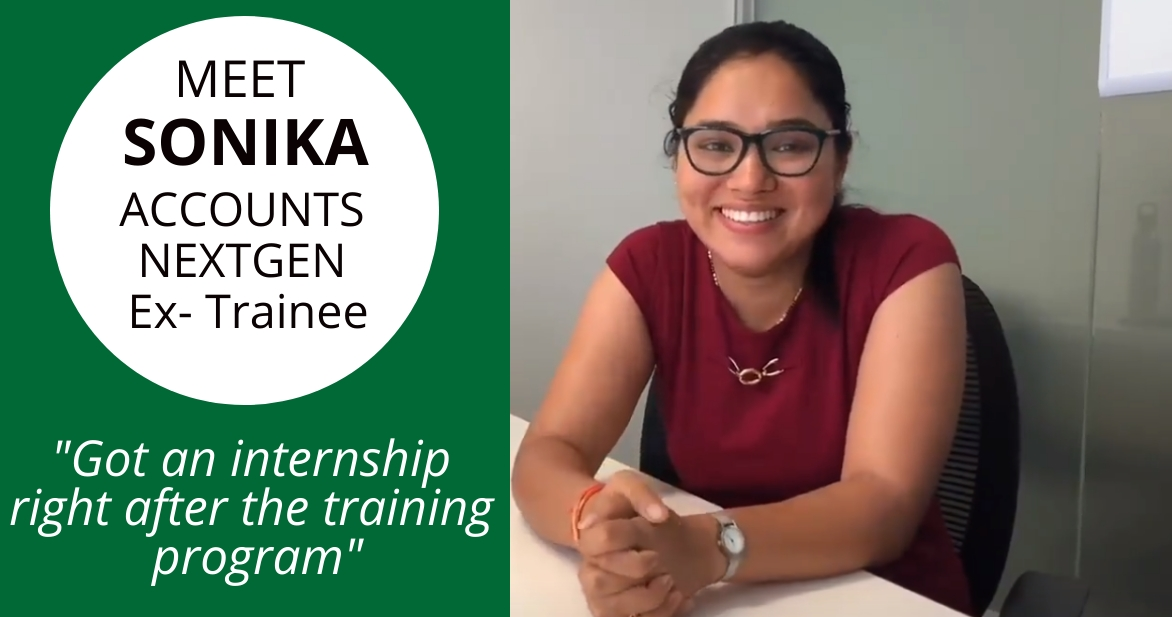 """Got an internship just after the training program"" – Sonika Rawat"