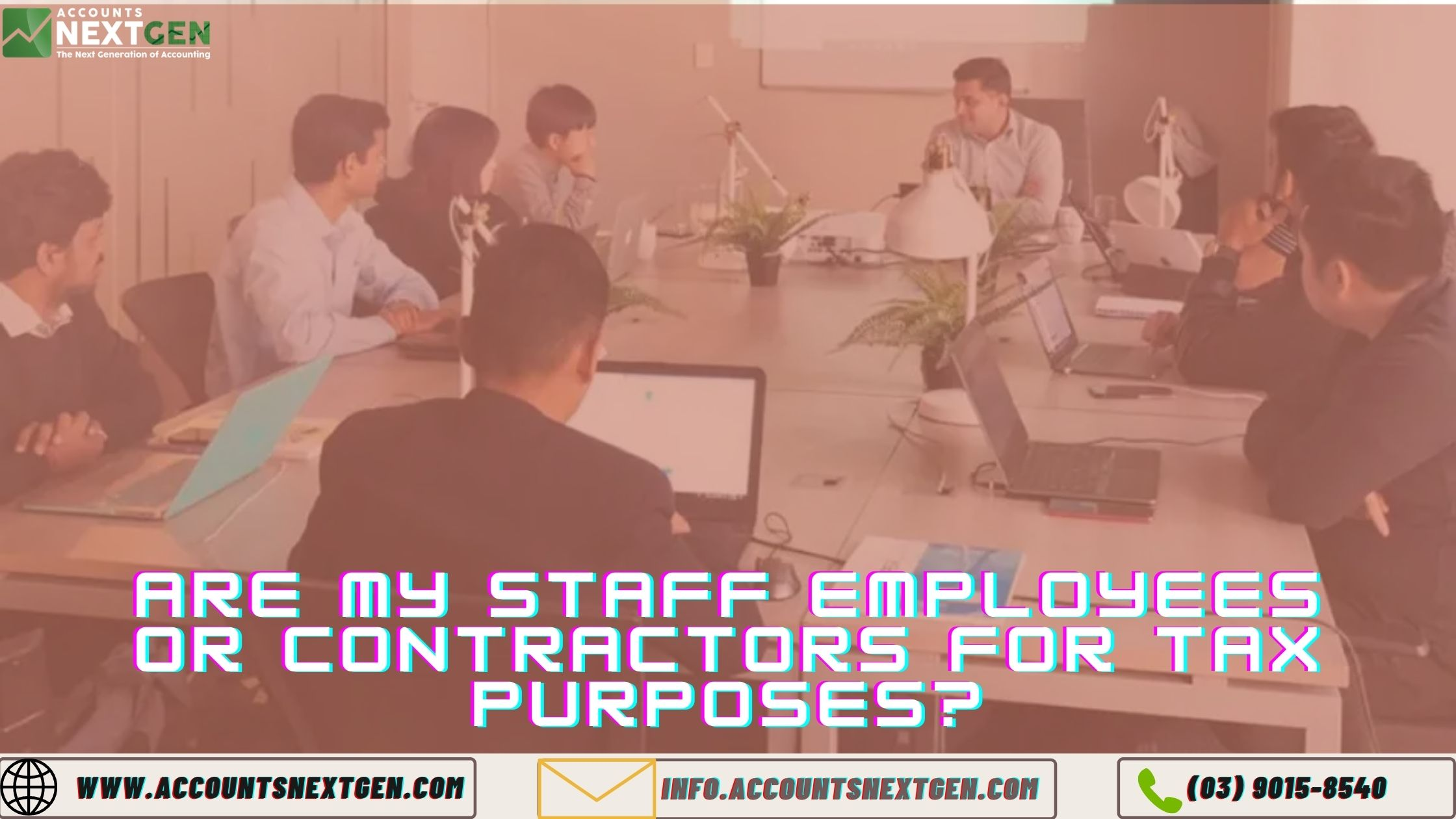 Are my staff employees or contractors for tax purposes?